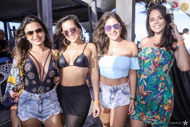 Amanda Campelo, Camila Alves, Julia Pessoa e Larissa Rangel