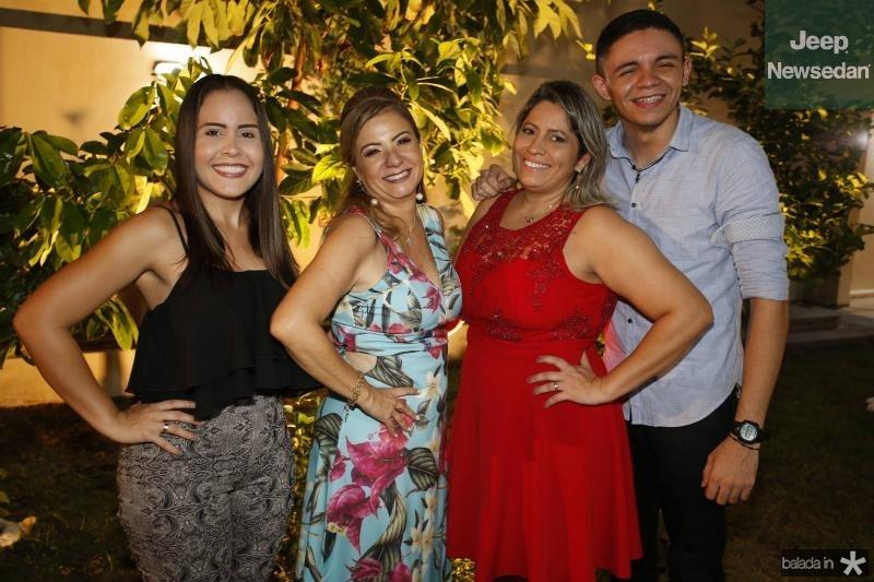 Amanda Catarina, Simone Cardoso, Jarda Lacerda e Bruno Castro