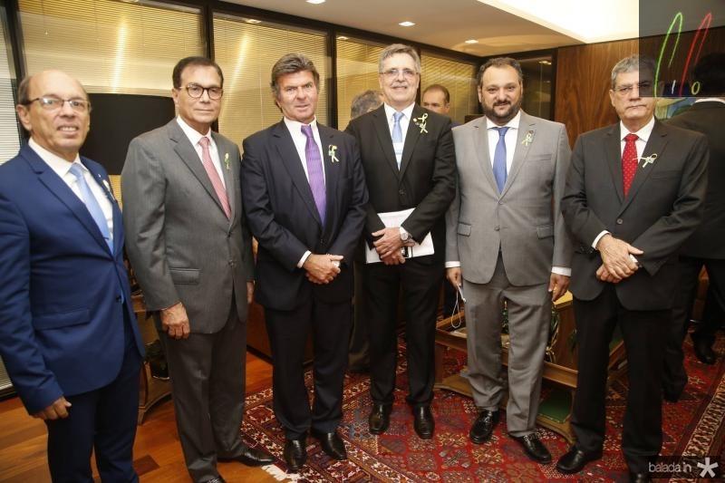 Andre Montenegro, Beto Studart, Luiz Fux, Carlos Gama, Patriolino Dias e Adalberto Valadao