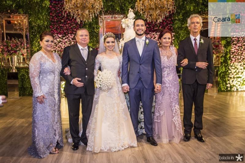Meire Alves, Adolfo Alves Neto, Diandra Alves, Roberto Cabral, Nadja Cabral e Roberto Cabral
