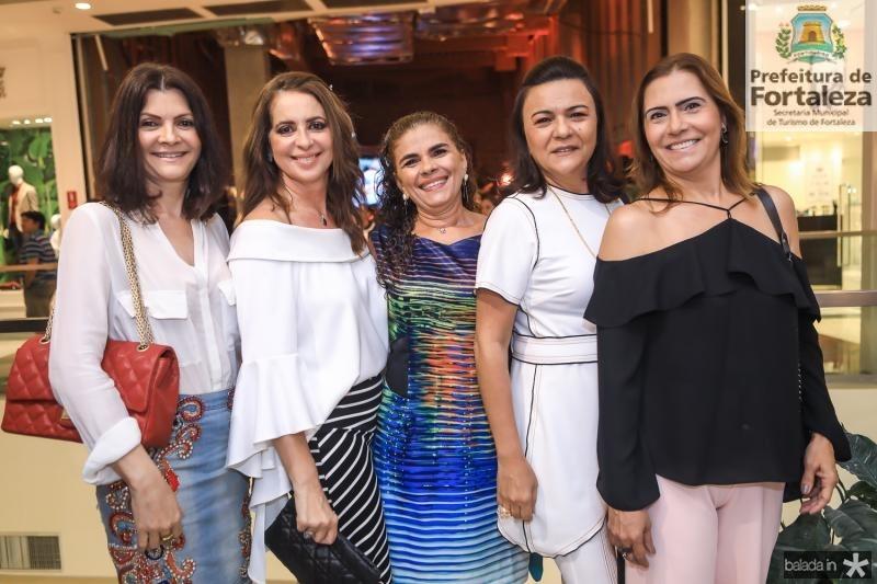Liliana Farias, Marcia Andrea, Madalena Feijao, Guimar Feitosa e Debora Moreira
