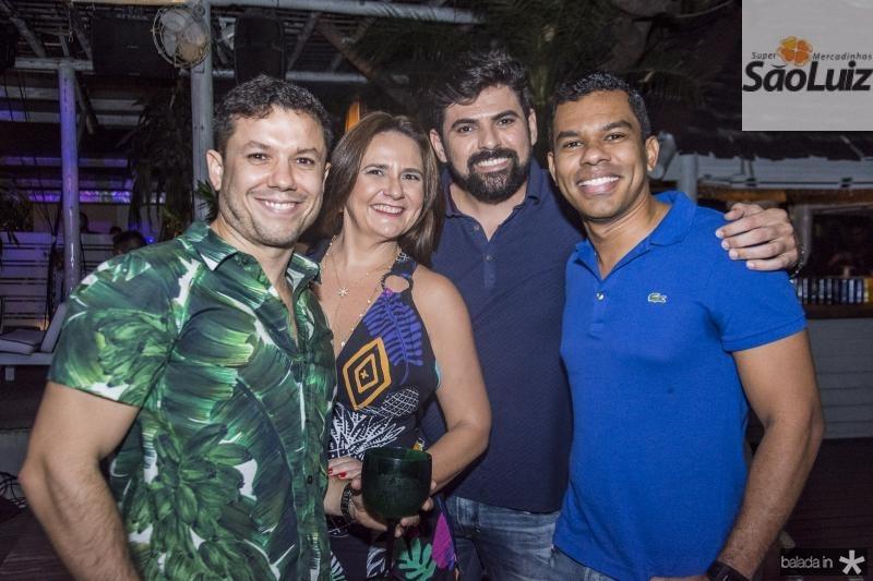Everton Maia, Andrea Araujo, Eduardo Lima e Antonio Mesquita