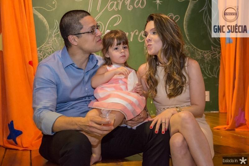 Wilson Neto, Maria Carolina Araujo e Claudia Araujo