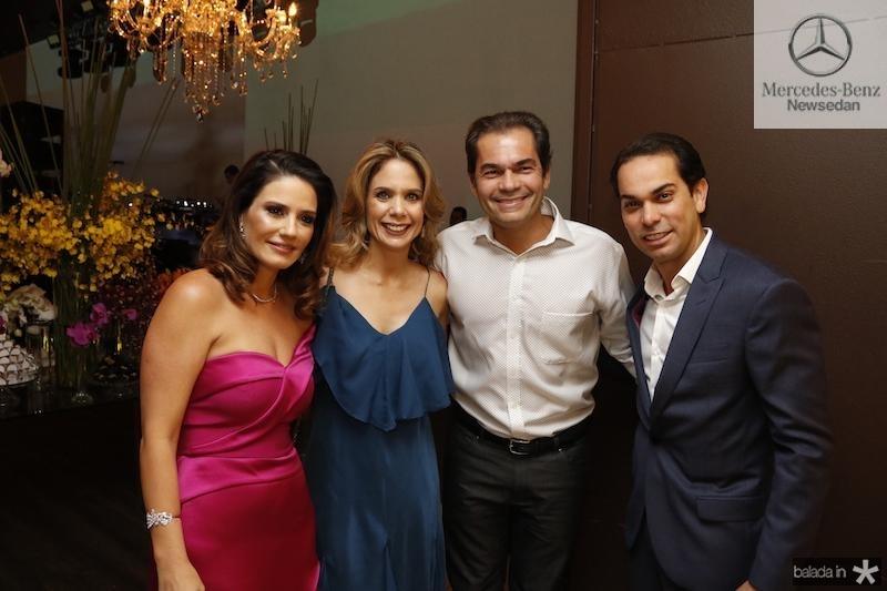Renata e Claudio Vale com Lina e Candido Pinheiro