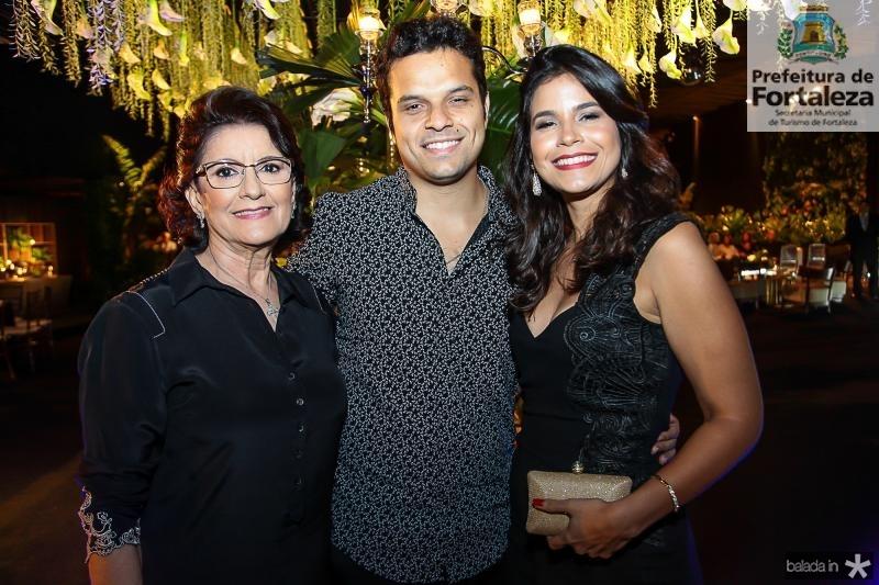 Dina Pinheiro, Raul Ribeiro e Yolanda Pinheiro