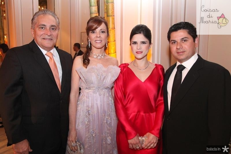 Luiz e Karisia Pontes, Marilia e Pompeu Vasconcelos