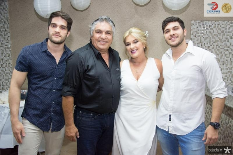 Lucas, LC, Adriana e Matheus Moreira