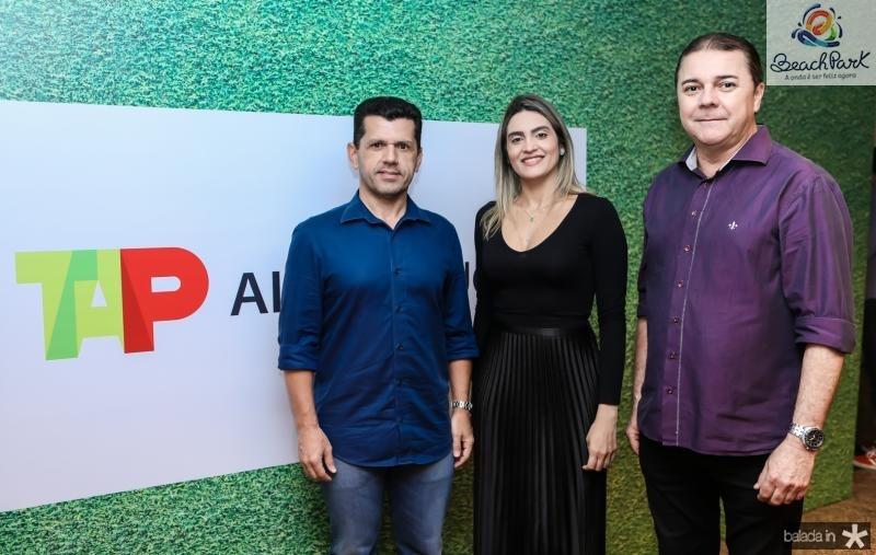 Erick Vasconcelos, Denise Carra e Elizeu Barros