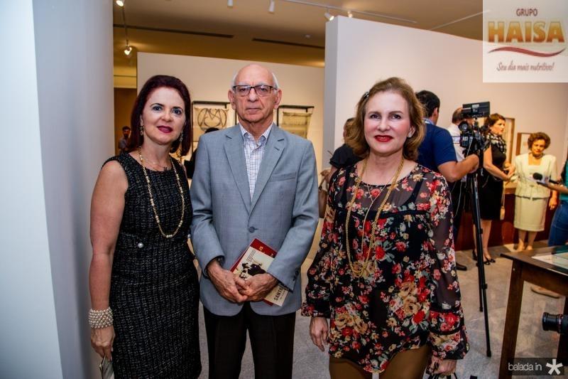 Ana Juca, Gerson Fonteles e Renata Jereissati