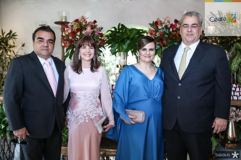 Edmar e Suzy Feitosa, Nagela e Eduardo Correa