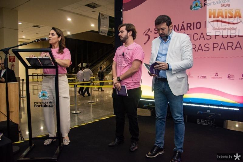 Patricia Macedo, Claudio Nelson e Elcio Batista
