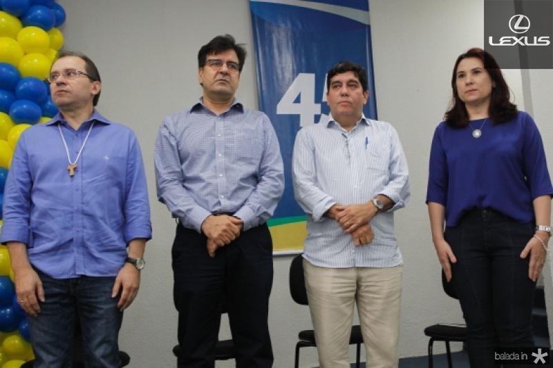 Carlos Matos, Fernando Facanha, Cabeto Martins e Emilia Pessoa