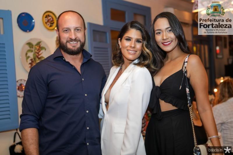 Marco Giovati, Taynã Albuqueque e Mara Marques