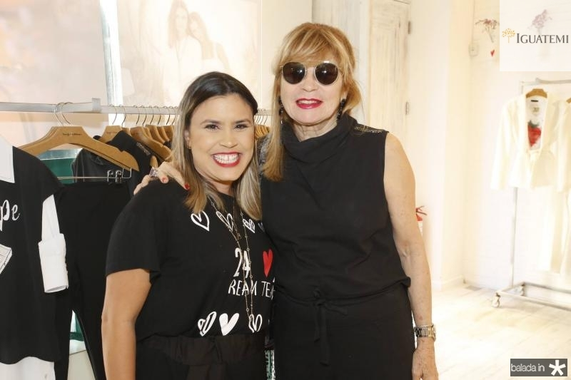 Ariadna Menezes e Rebeca Martins