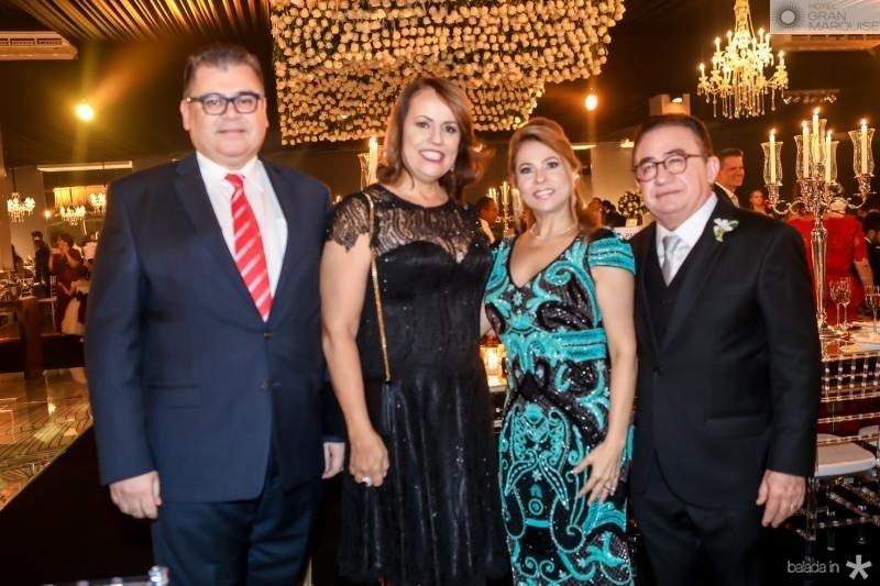Marcos e Isabel Gomide, Morgana e Manoel Linhares