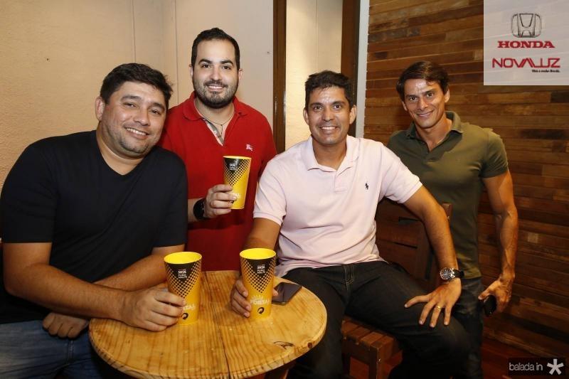 Renato Barbosa, Renan Pinto, Victor Mantega e Jorginho Cals