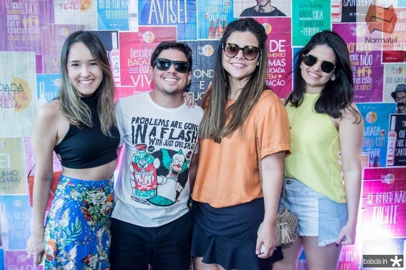 Mirela Costa, Rafael Praxedes, Nathalia Corres e Carol Gurgel