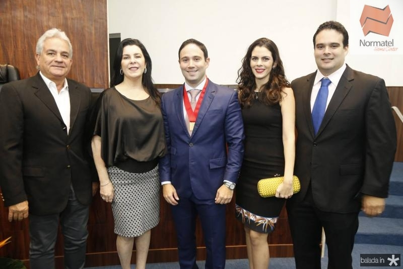 Marcilio e Silvinha Fiuza, Thiago, Renata e David Asfor