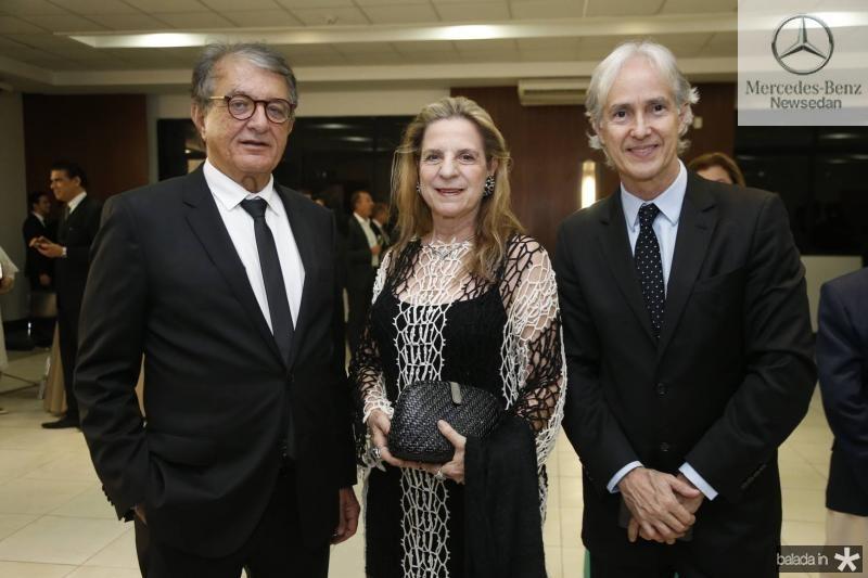 Arialdo Pinho, Anya Ribeiro e Marcos Pompeu