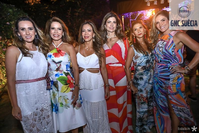 Roberta Nogueira, Maira Silva, Sakie Brooks, Ines Castro, Weine Moreira e Mariana Marinho