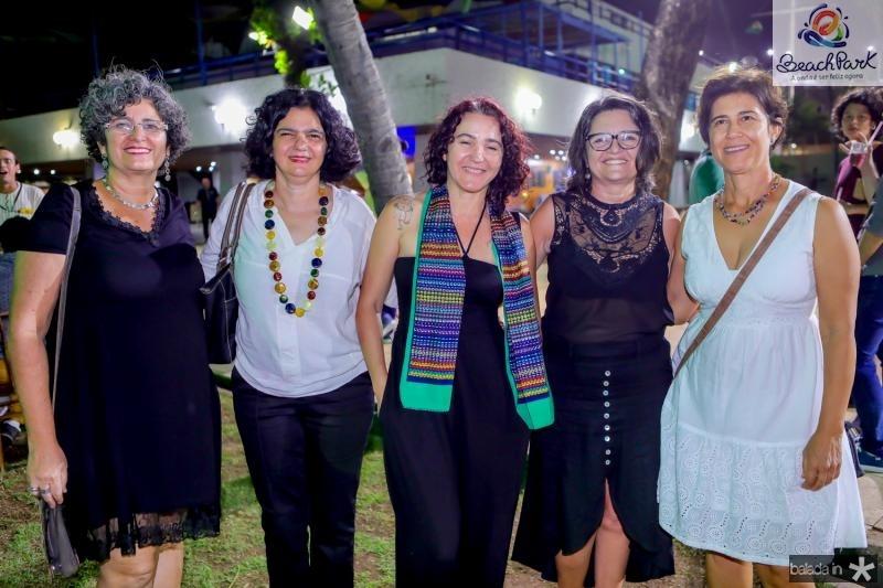 Celma Santiago, Suzete Nunes, Cris Vale, Clicia Gadelha e Sueli Helena