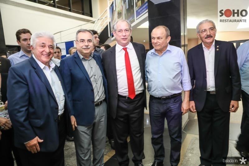 Deusmar Queiros, Assis Cavalcante, Ciro Gomes, Honorio Pinheiro e Walter Cavalcante