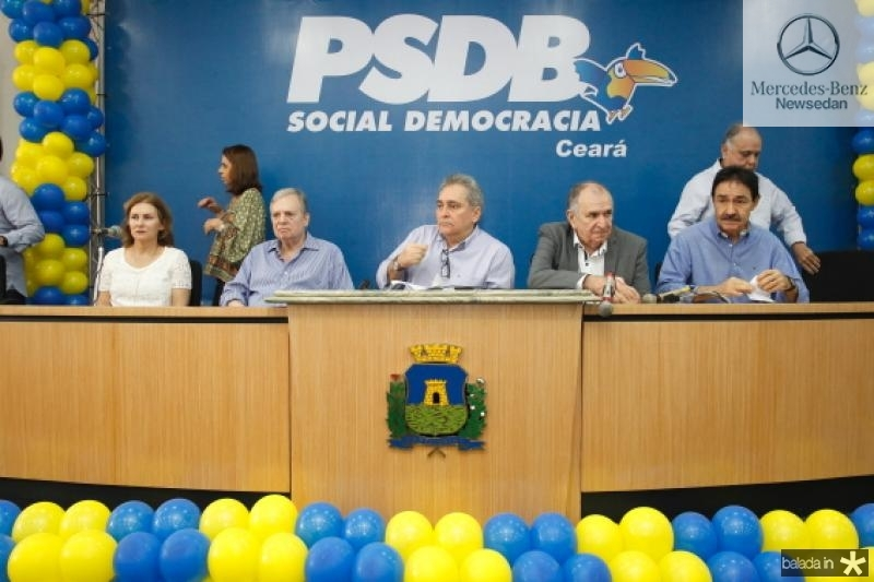 Renata e Tasso Jereissati, Luiz Pontes, Francini Guedes e Raimundo Gomes de Matos
