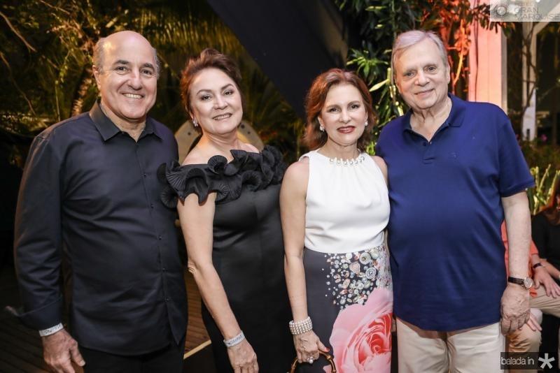 Silvio e Paula Frota, Renata e Tasso Jereissati