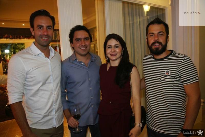 Vitor Frota, Fernando e Cibele Castelo Branco e Rodrigo Abud