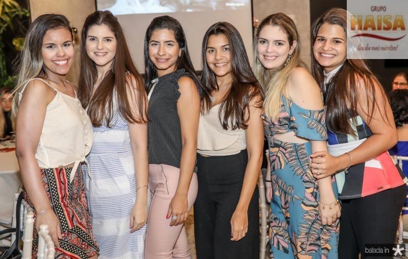 Mariana Soares, Ianne Saboia, Lizandra Braga, Virginia Alves, Juliana Rocha e Bruna Rodrigues