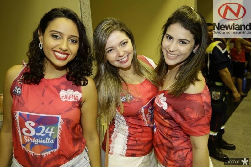 Renata Oliveira, Camila Montalverne e Sarah Barcelos