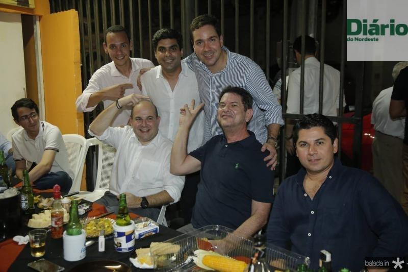 Pedro Rocha, Roberto Claudio, Queiroz Filho, Eduardo Bismarck, Cid Gomes e Pompeu Vasconcelos