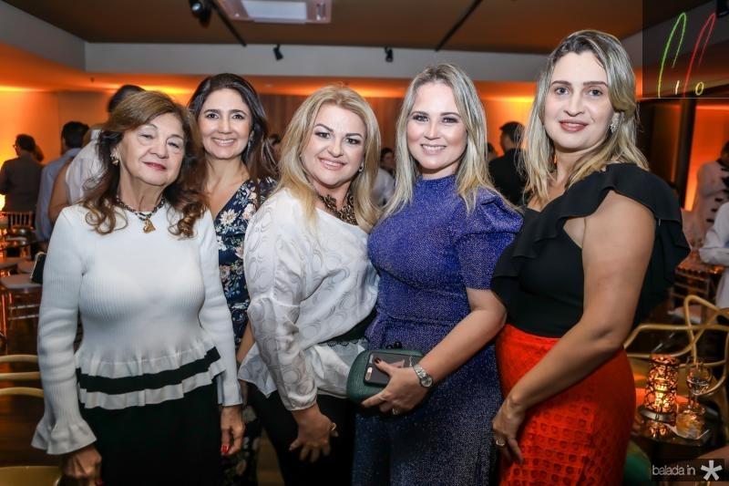 Alci Ponce, Luciana Sidrao, Conceiçao Almeida, Anelise Franco e Edimara Carvalho