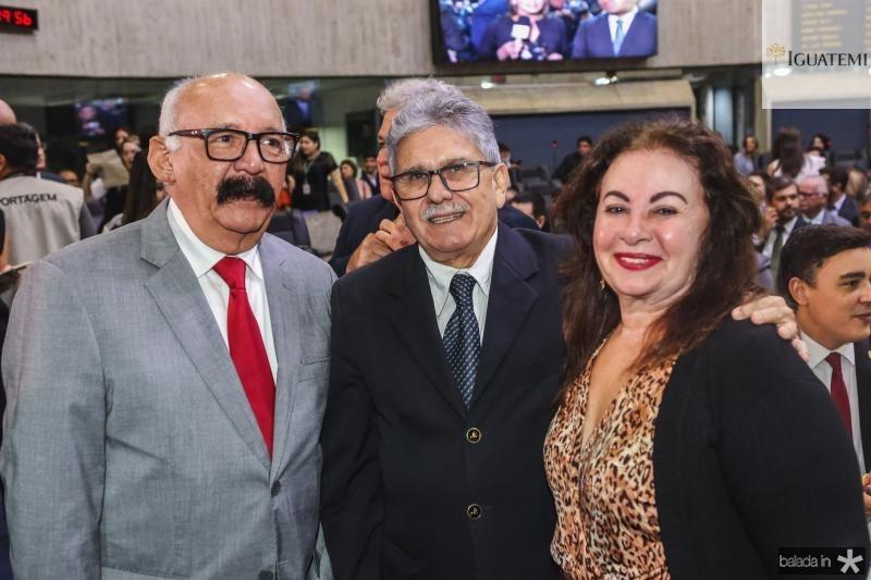 Pompeu Soares, Dorian Sampaio e Julieta Bronte