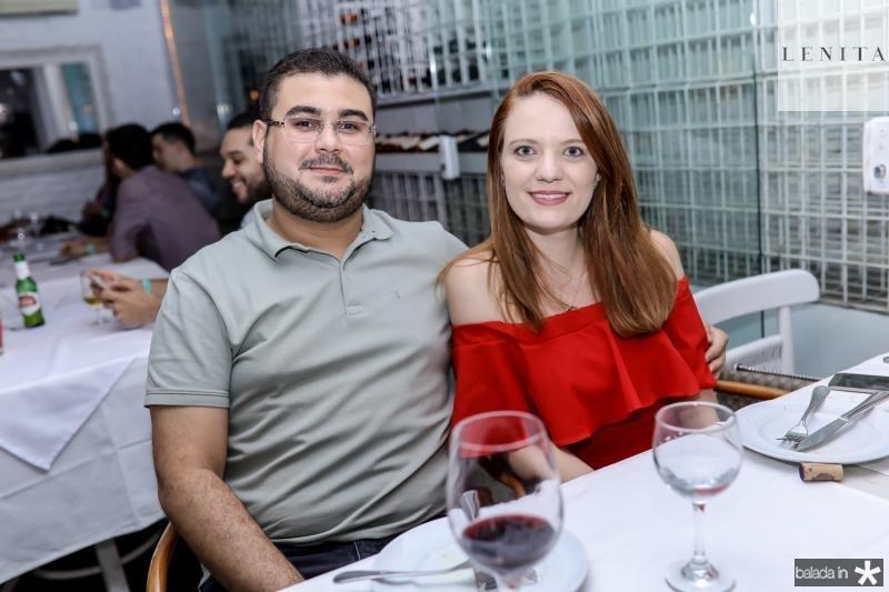 Raynes Viana e Karine Parente