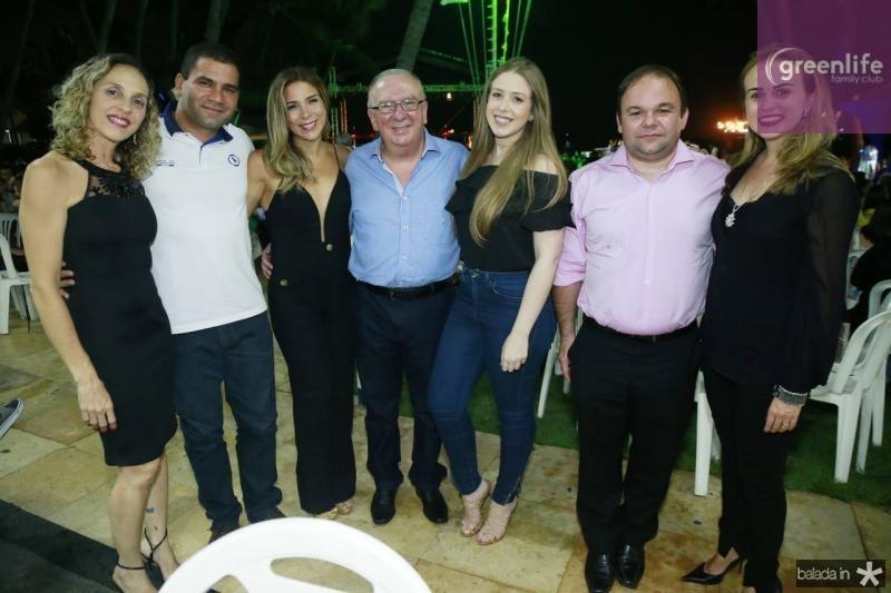 Eunir Pontes, George Castro, Idelfina, Valmir e Maria Carolina Pontes, Aldairton Carvalho e Liana Furtado