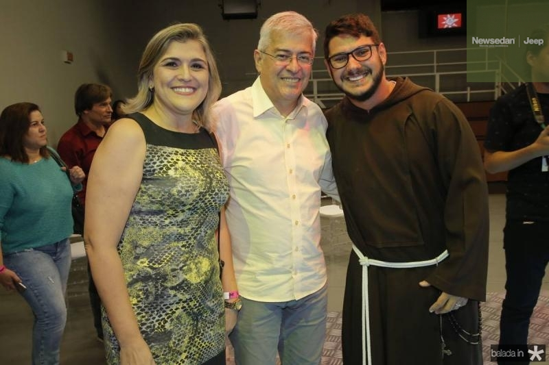 Simone Moraes, Paulo Cesar Noroes e Frei Wilter Malvera