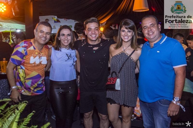 Valdir Fernandes, Samara Fernandes, Wesley Safadao, Juliana Roma e Rodrigo Roma