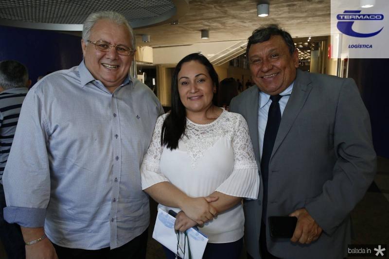 Carlos Silva, Rute Farias e Luciano Luke