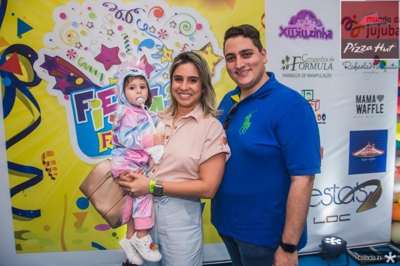 Lis, Tatiana e Thiago Barreira
