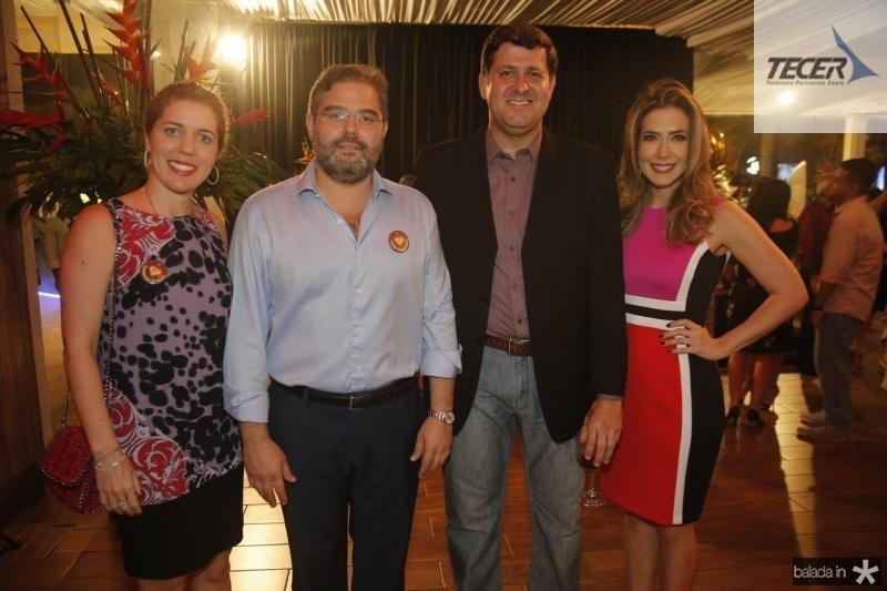 Ticiana e Edson Queiroz Neto, Rafael Rodrigues e Adamir Macedo 1