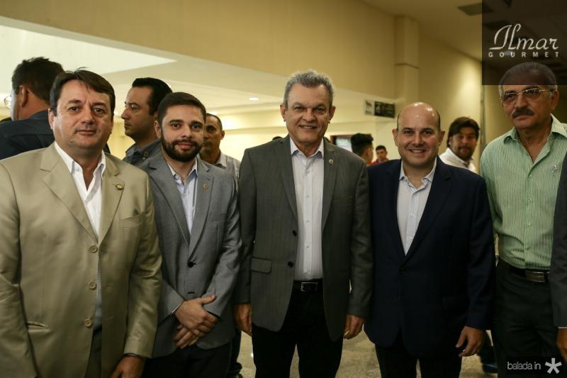 Beniguino Junior, Julio Cesar, Sarto Nogueira, Roberto Claudio e Walter Cavalcante