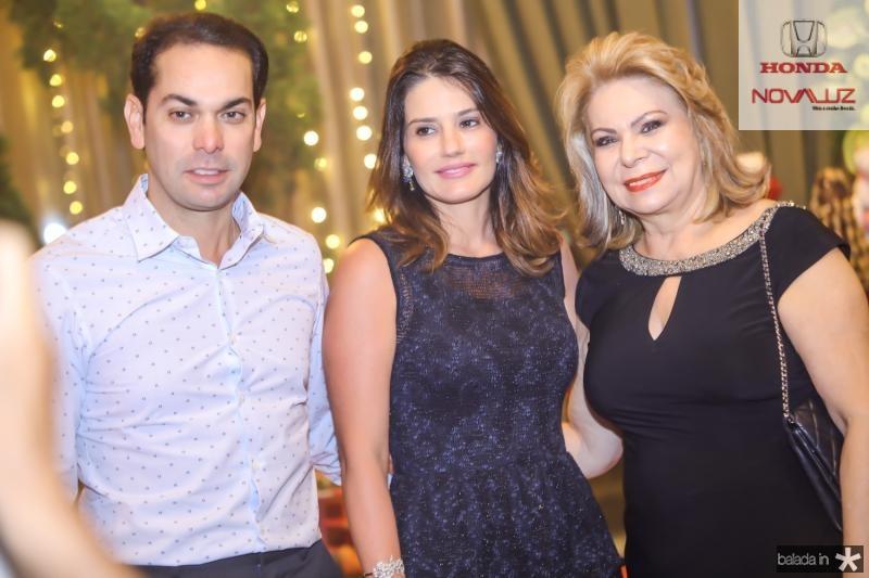 Claudio, Renata e Iracema do Vale