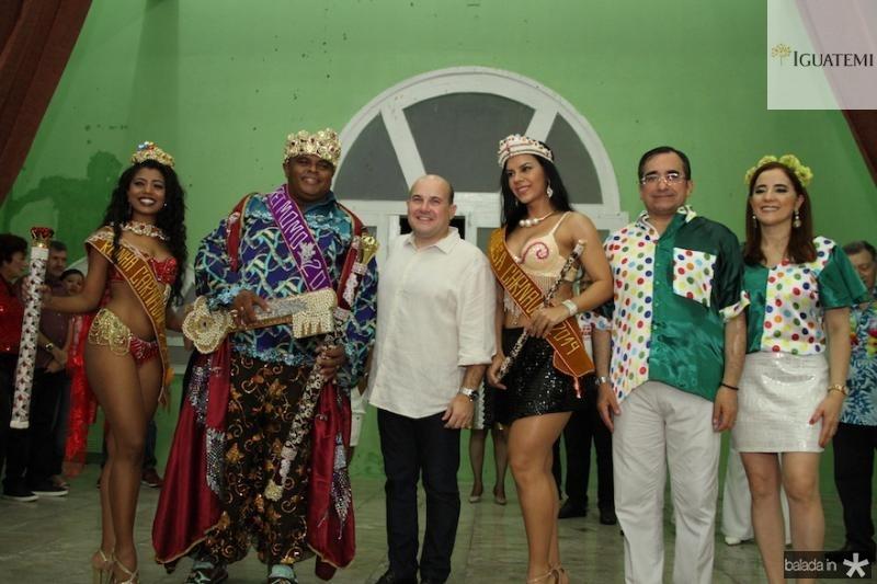 01- Realeza do Carnaval de Fortaleza 2019, Prefeito Roberto Cla?udio, Jardson Cruz e Fa?tima