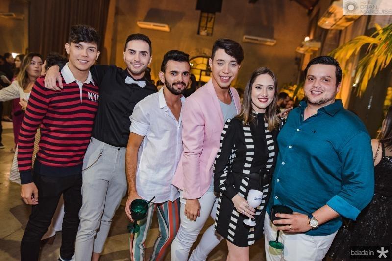 Anderson Oliveira, Thiago Oliveira, Wellington Barros, Edgel Joseph, Raissa Novais e Novack Neto