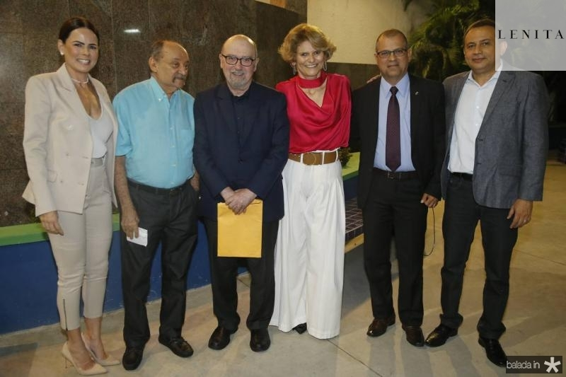 Luciana Souza, Claumir Rocha, Luiz Eduardo Soares, Joseana Franca, Alexandre Avila e Cesar Belmino