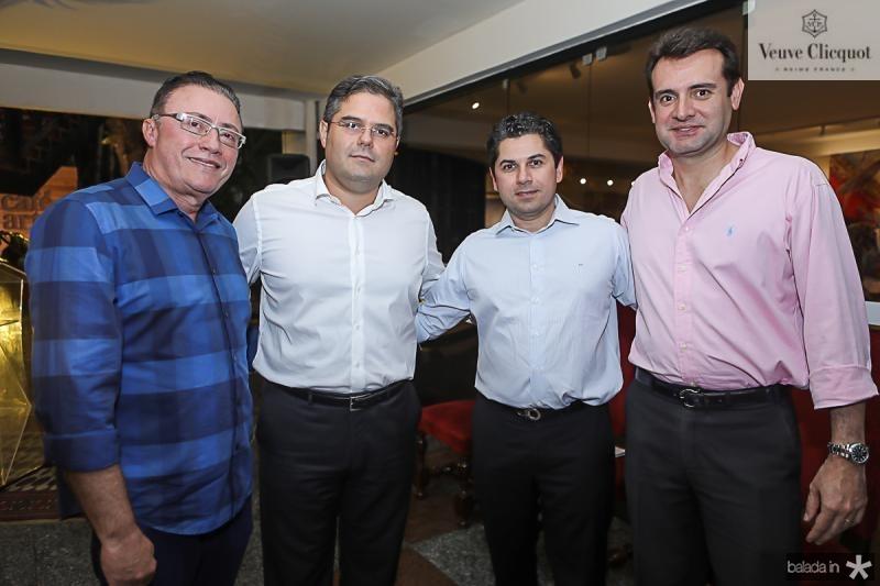 Darlan Leite, Edson Queiroz Neto, Pompeu Vasconcelos e Fernando Gurgel