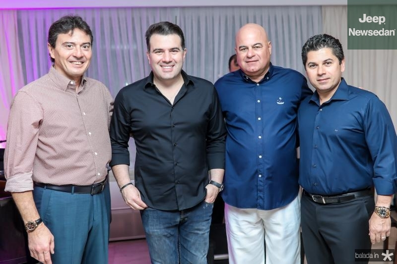 Luis Teixeira, Danilo Dias, Luciano Cavalcante e Pompeu Vascocelos