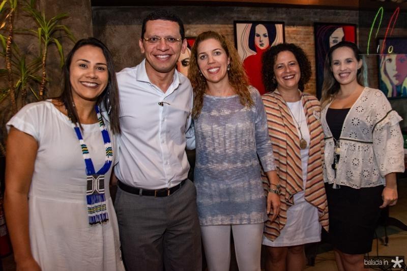 Natalia Martins, Renato Lima, Ticiana Rolim Queiroz, Liana Feingold e Priscilla Veras