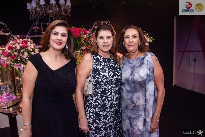 Gina Fiuza, Nolia Palerpo e Maria Campos
